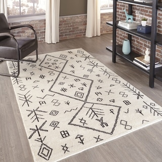 Morocco Hand-knotted Natural Geometric Rug (10' x 14')