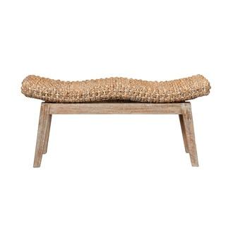 Decorative Natural Teak Rustic Sanibel Bench