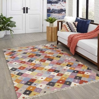 Tribal Elegance Hand-woven Multi Abstract Rug (8' x 10')