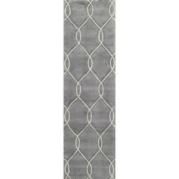 "Momeni Bliss Steel Interlocking Hand-Tufted Runner Rug (2'3 X 8') - 2'3"" x 8' 14310334"