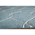 Hand-tufted Teal Wool Nature Rug (5' x 8')