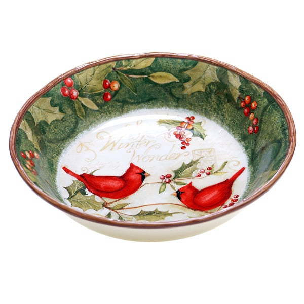Certified International Winter Wonder Pasta/ Serving Bowl