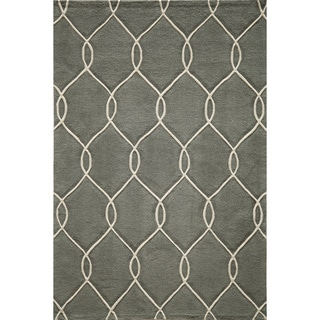 Hand-tufted Grey Nature Rug (2' x 3')