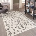 Morocco Hand-knotted Natural Geometric Rug (2' x 3')
