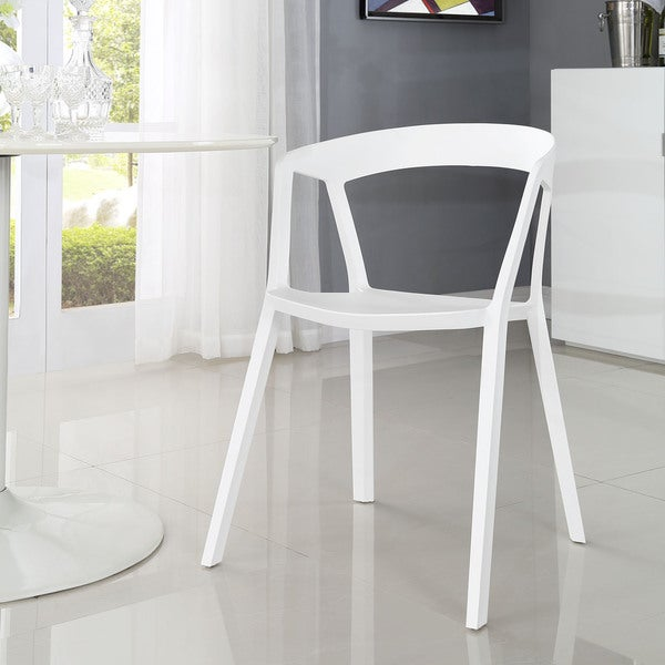 Tread White Dining Armchair