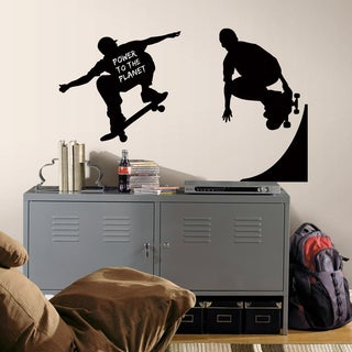 Chalkboard Skaters Chalk Peel and Stick Wall Decals