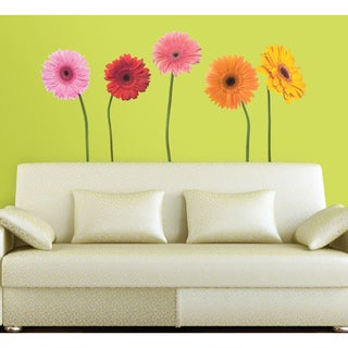 Gerber Daisies Peel and Stick Wall Decals