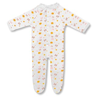 Spencer's Girls' Butterfly Footed Sleep N' Play Pajamas