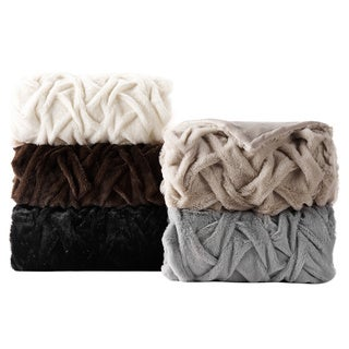 Vogue Faux Fur Polyester Blend Throws