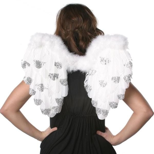 Medium Angel Silver Tipped Wings