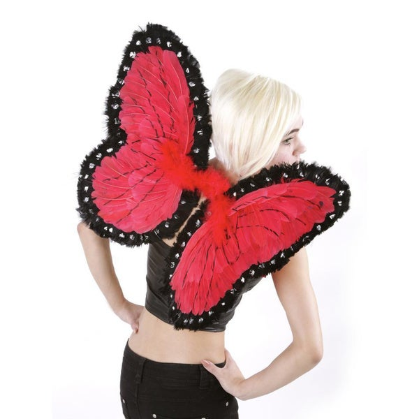 Red/ Black Butterfly Wing Costume
