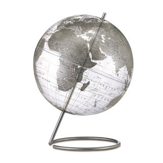 Crystal Marquise Silver World Globe