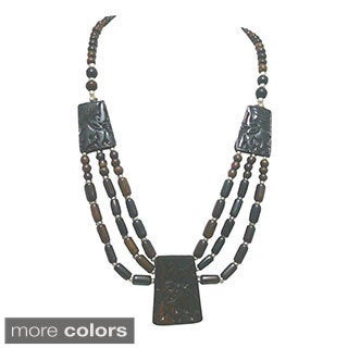 Tiara Global Tribal Multi-strand Beaded Necklace