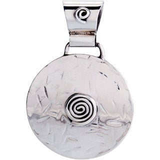 Kele & Co .925 Sterling Silver Raised Swirl Pendant