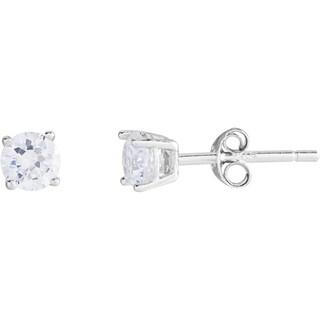 Kele & Co Girls Sterling Silver Cubic Zirconia Stud Earrings