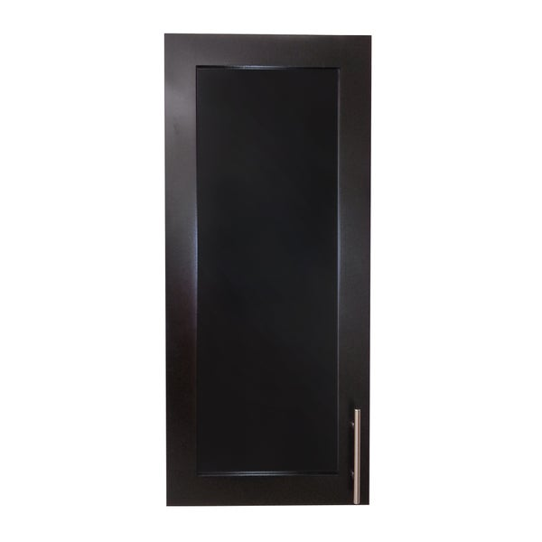 Recessed Shallow-depth Classic Black Frameless Cabinet