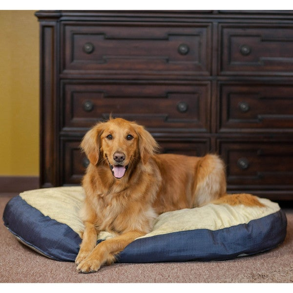 Integrity Bedding Plush Blended Memory Foam Oval Dog Bed
