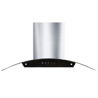 Kokols 36-inch Stainless Steel and Glass Wall Mount Range Hood