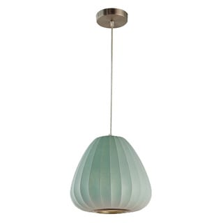 Legion Furniture Pendants 11-inch Blue Ceiling Cocoon Lamp