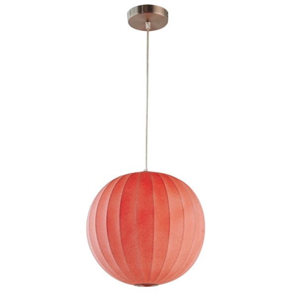 Legion Furniture Pendants 13-inch Red Ceiling Cocoon Lamp