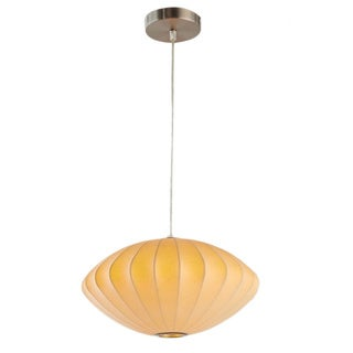 Legion Furniture Pendants 14-inch Yellow Ceiling Cocoon Lamp