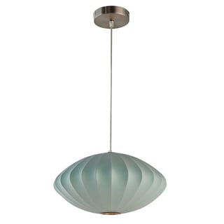 Legion Furniture Pendants 14-inch Blue Ceiling Cocoon Lamp