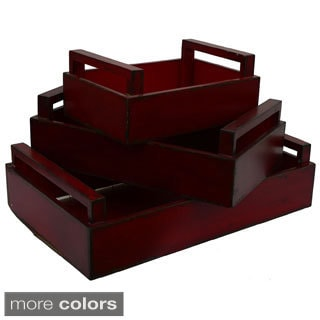 Wooden Trays (Set of 3)