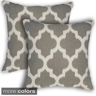 Liam Geometric 17-inch Decorative Throw Pillows (Set of 2)