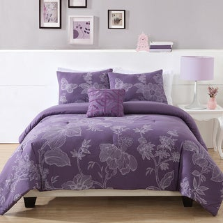 Etched Flower 3-piece Comforter Set