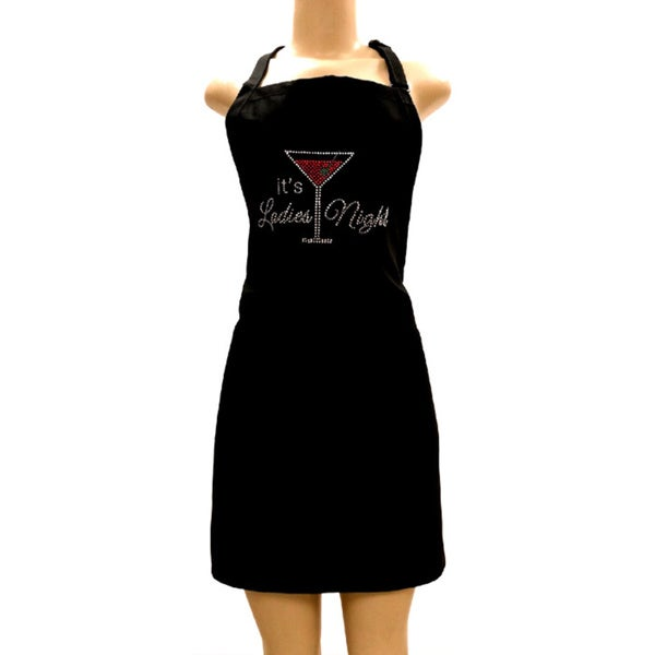 Ladies Night Out Rhinestone Apron