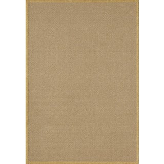 Delight Gold/ Wheat Rectangular Nylon Rug (5' x 7')