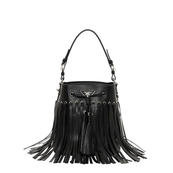 parada handbag - Prada Leather Fringe Bucket Bag - 16789746 - Overstock.com ...