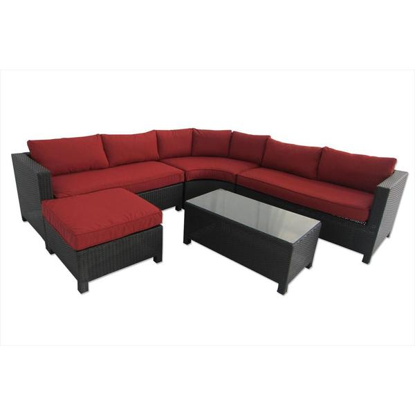 Barcelona 5 Piece Sectional - Red