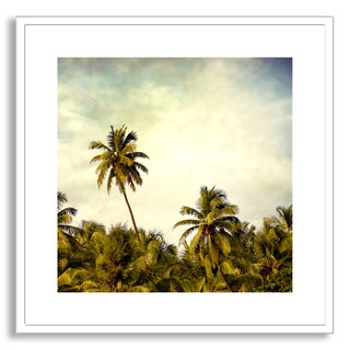 Sundarananda's 'Vintage Palm Trees' Framed Paper Art