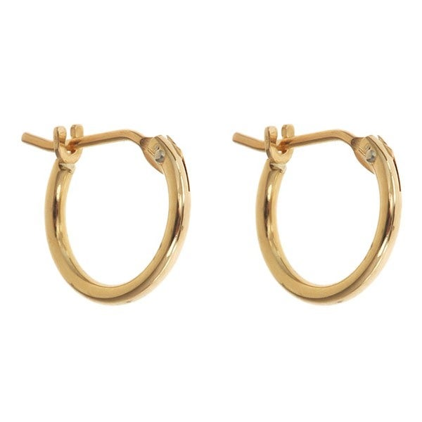 14k Yellow Gold 10mm Hoop Earrings
