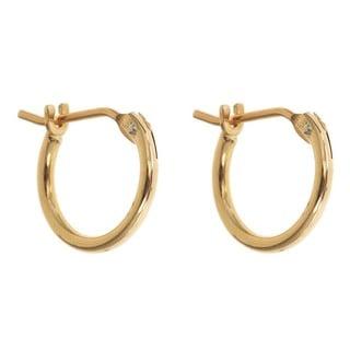 14k Yellow Gold 10mm Hoop Earrings