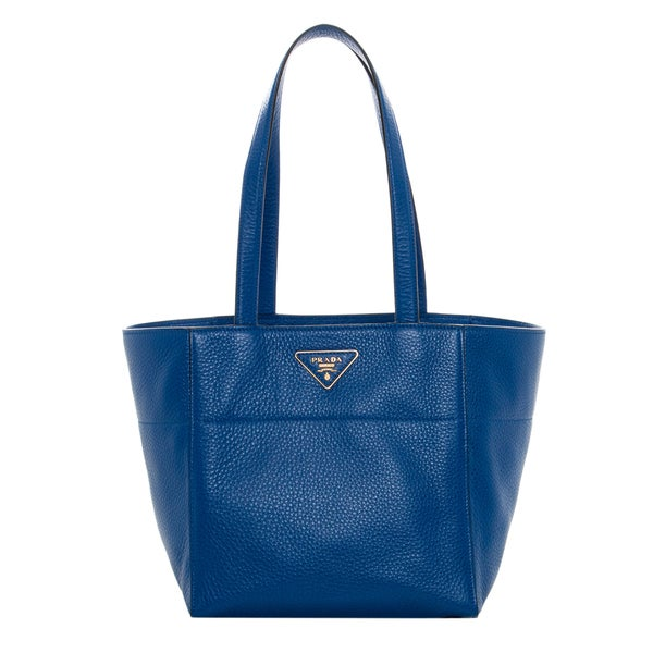 Prada Cobalt Grainy Leather Tote