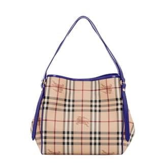 Burberry 3950074 Small Haymarket Patent Canterbury Tote
