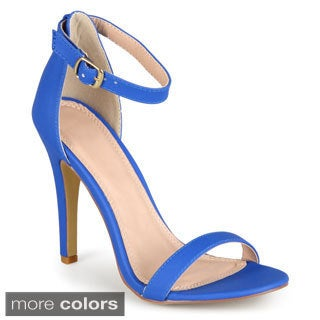 Journee Collection Women's 'Julea' Open Toe Ankle Strap Pumps