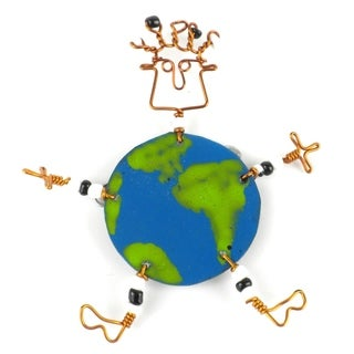Dancing Girl World Pin (Kenya)
