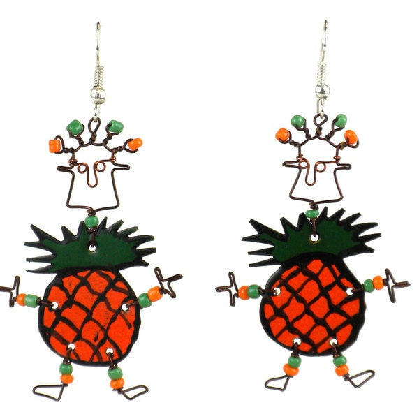 Dancing Girl Pineapple Earrings (Kenya)