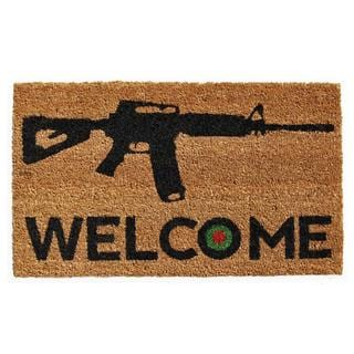 Bullseye Welcome Coir with Vinyl Backing Doormat (1'5 X 2'5)