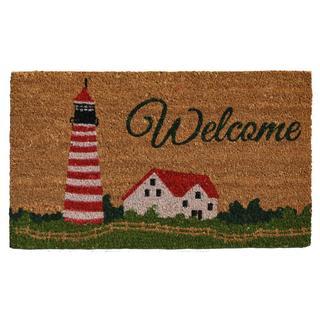 Harbor Welcome Coir with Vinyl Backing Doormat (1'5 X 2'5)