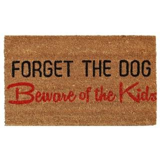 Forget the Dog Coir with Vinyl Backing Doormat (1'5 X 2'5)