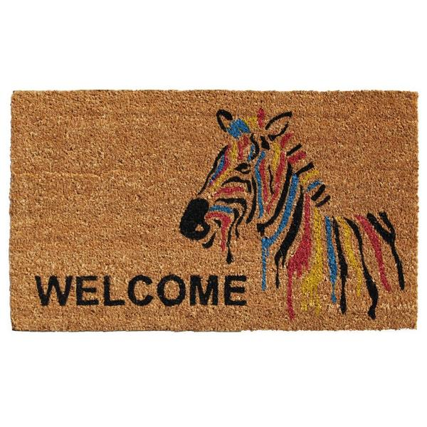 Zebra Welcome Coir With Vinyl Backing Doormat 1 Amp A 21
