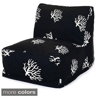 Majestic Home Goods Coral Pattern Bean Bag Lounger Chair