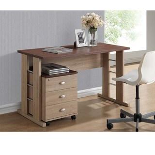 Baxton Studio Woodrow Sonoma Oak Finishing Modern Writing Desk