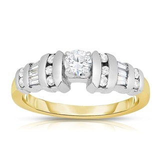 Eloquence 14k Two-tone Gold 1/2ct TDW One-Of-A-Kind Diamond Ring (I-J, I1-I2)