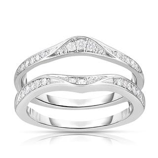 Eloquence 14k White Gold 1/4ct TDW Curved Diamond Ring Jacket (H-I, I2-I3)