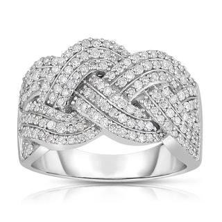 Eloquence 14k White Gold 1ct TDW Braided Diamond Band (H-I, I1-I2)